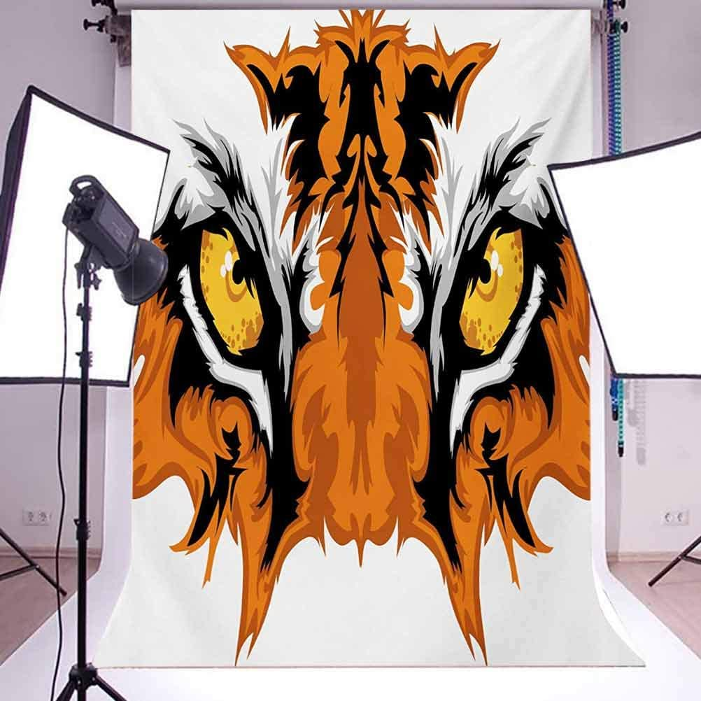 Eye 10x12 FT Backdrop Photographers,Tiger Eyes Graphic Mascot Animal Face Bengal Cat Safari Predator Theme Background for Photography Kids Adult Photo Booth Video Shoot Vinyl Studio Props