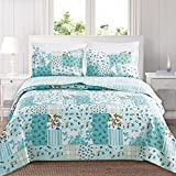 Home Fashion Designs 3-Piece Reversible Quilt Set with Shams. All-Season Bedspread with Patchwork Pattern. Aurelia Collection By Brand. (Twin, Multi)