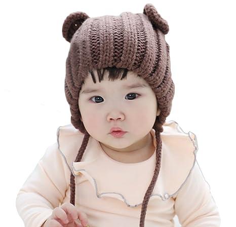 d4774b742 Warm Cap Cute Cat Ear Crochet Knit Cable Rib Hat Beanie: Amazon.in: Baby