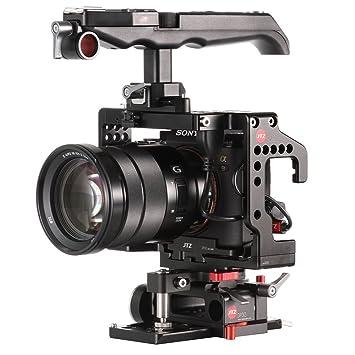 jtz DP30 - jl-js7 Baseplate Jaula de cámara DSLR Rig & mango para ...