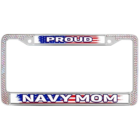 Amazon.com: GND USA Flag Army Mom Quotes Crystal License ...