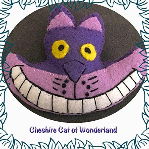 Cheshire Cat felt stuffed plush ~Hand-sewn with love