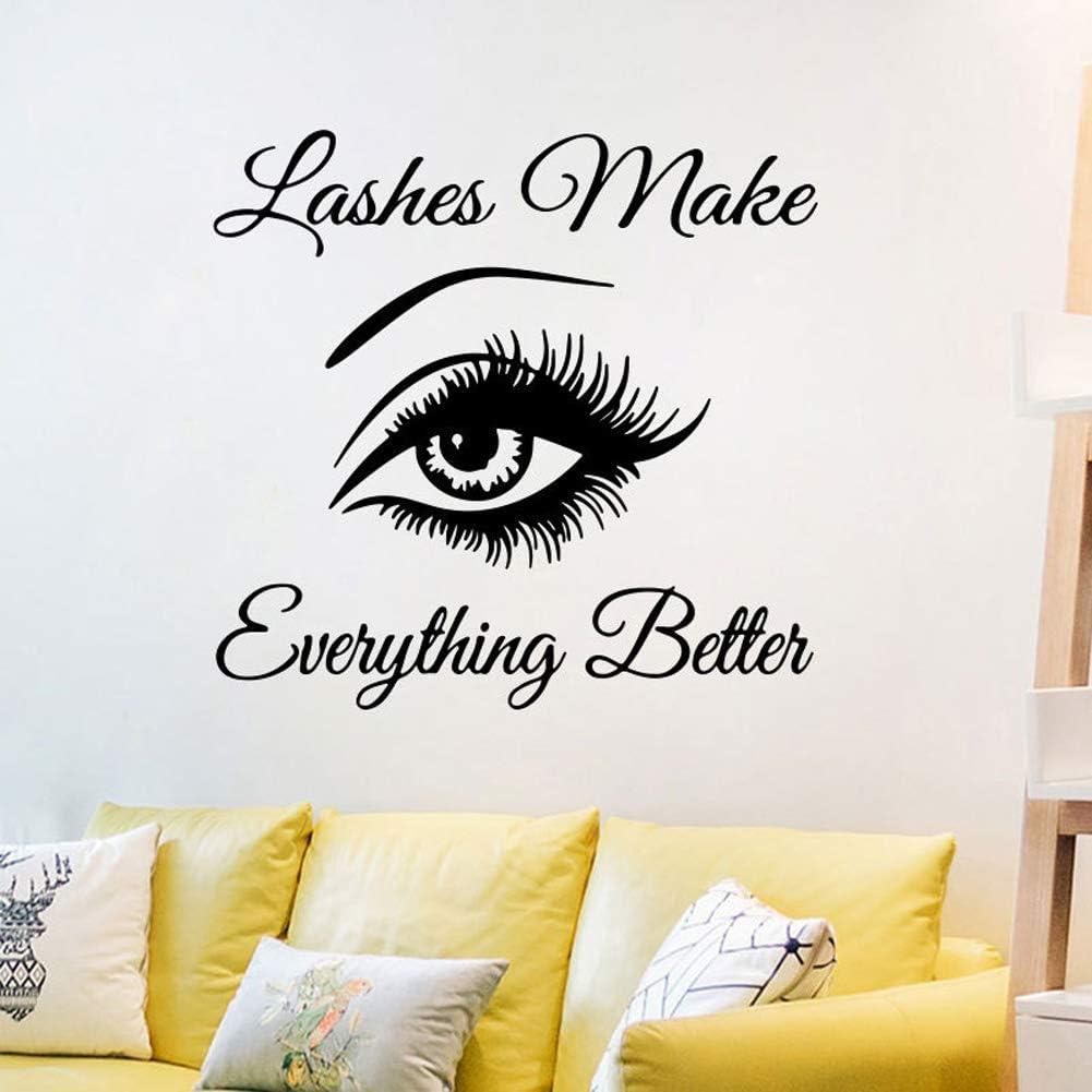 For Kids Room Birthday Gift Art Eyelash Wall Stickers,Adhesive Art Decals