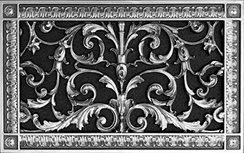 Decorative Vent Cover, Grille, Return Register, Made of Urethane Resin, in French Style fits Over a 8