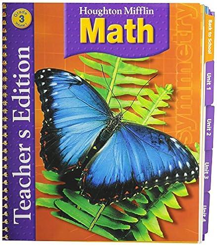 amazon com houghton mifflin math grade 3 vol 1 teacher edition rh amazon com Houghton Mifflin Leveled Readers Houghton Mifflin Harcourt Publishing Company