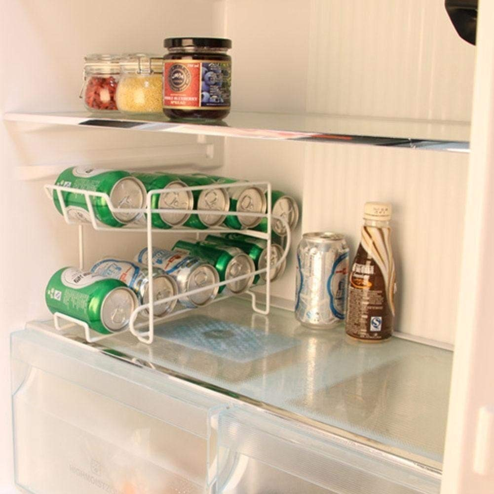 Organizador de latas apilable, 2 niveles apilables, dispensador de ...