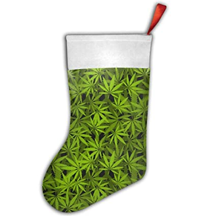 History Of Christmas Stockings.Amazon Com Dfgfh Decoration Cannabis History Plant Merry