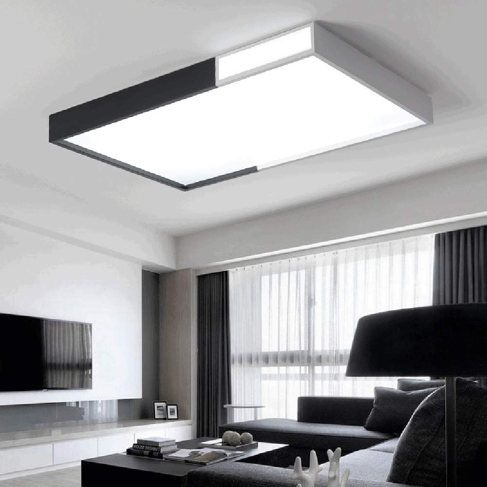 Cuisine U0026 Maison Lumière De Plafond LED Creative Noir Et Blanc Creux  Chambre Moderne Simple Lustre Pour Salon Salle De Bains ...
