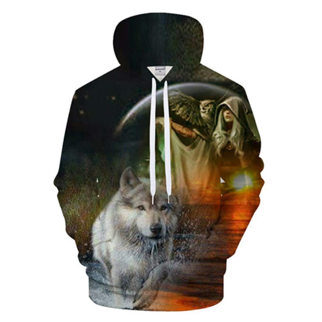 3D Hoodies Funny Wolf Sweatshirt Men Owl Hoody Women Tracksuit Harajuku Top Streatwear Coat Pullover