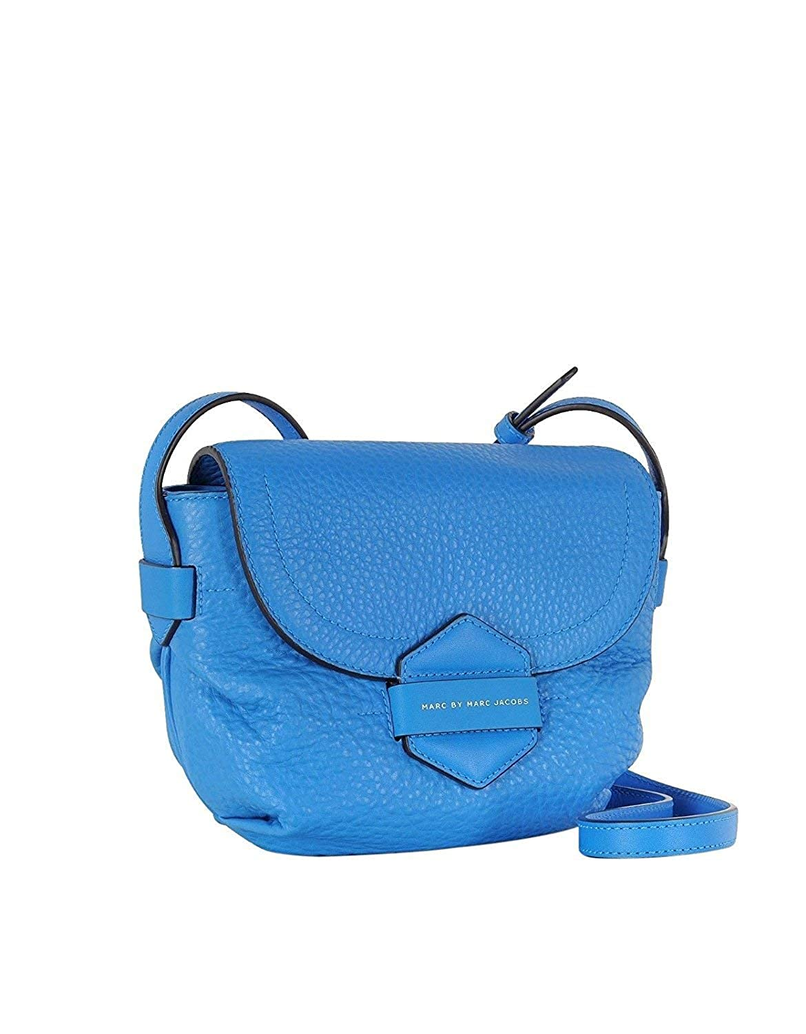 7fbe203a8a9f Amazon.com  Marc By Marc Jacobs Blue Leather Half Pipe Annable Crossbody Bag  M0003374  Clothing