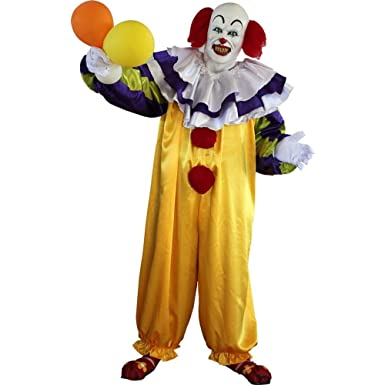 pennywise clown complete adult costume with mask