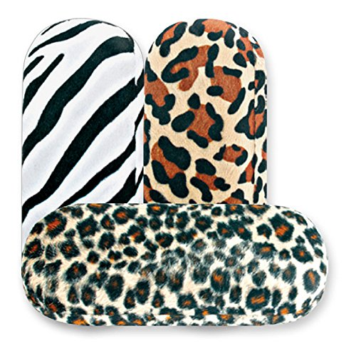 Hard Eyeglass Case, Glasses Holder For Women, Girls, Teens- Faux Animal Fur, Leopard