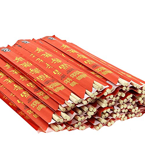"Royal Premium Disposable Bamboo Chopsticks, 9"" Sleeved and Separated, UV Treated, Bag of 100"
