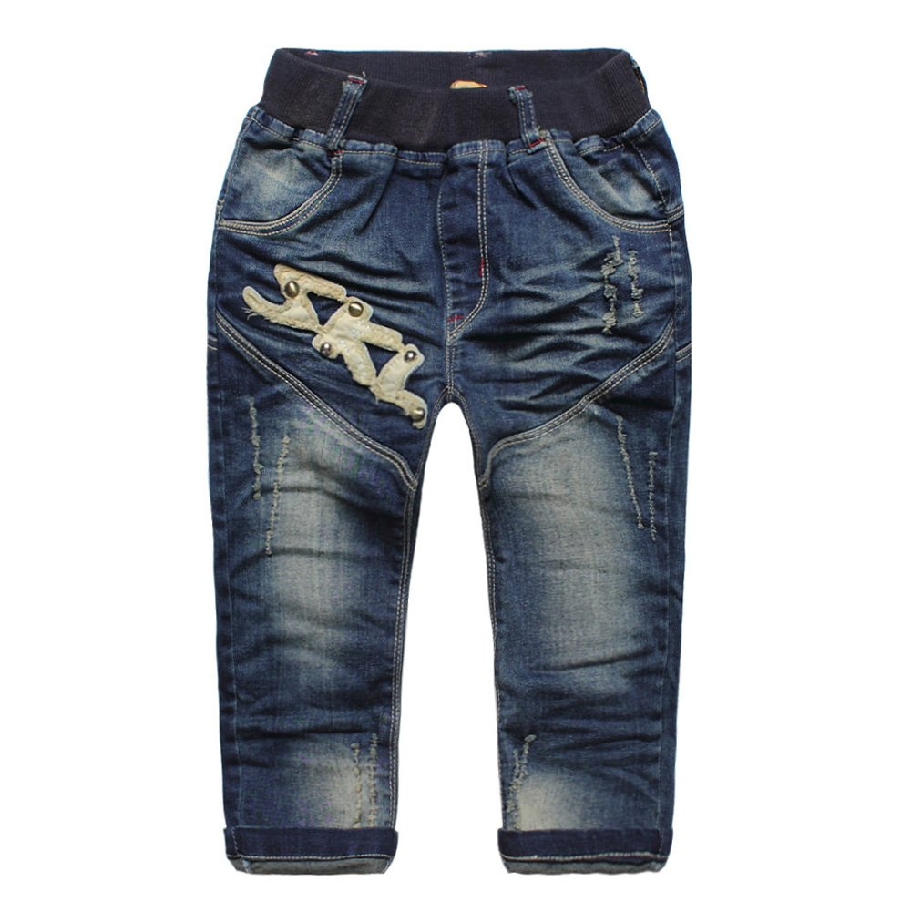 eTree Boys Cotton Do the holes Denim Jeans Patch Pants