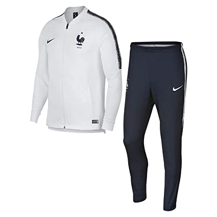 differently cute cheap detailed pictures Nike Dri-FIT FFF Squad Survêtement de Football Homme, White ...