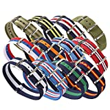 ALPS Nato Nylon Watch Strap with Stainless Steel Buckle (Watch Strap +Spring Bar )
