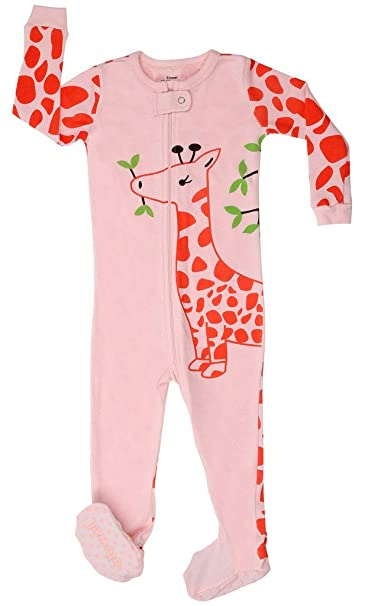 Pijama De 1 Pieza para Niñas con Suelas Y Diseño De Flamenco Y Jirafa Y Ardilla 100% Algodón (6 Meses-5 Años): Amazon.es: Ropa y accesorios