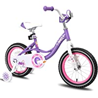 "JOYSTAR Fairy Kids Bike with Coaster Brake & Training Wheels for 2-6 Years Old Girl,12"" 14"" 16"", 85% Assembled"