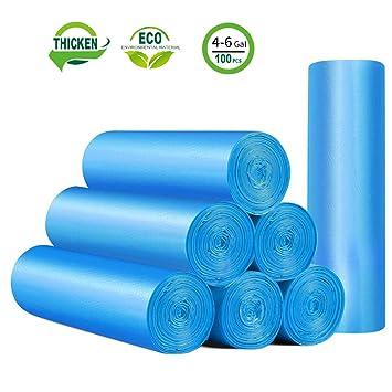 Amazon.com: Pequeñas bolsas de basura, 4 litros, Azul ...