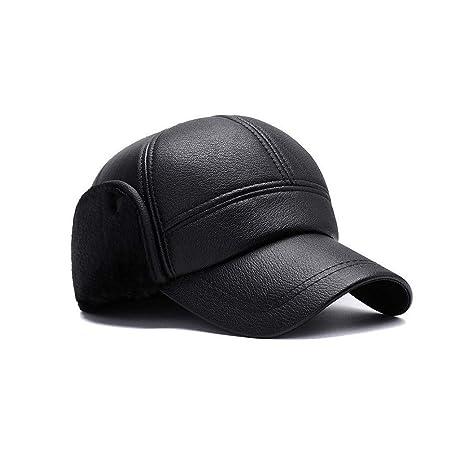 Lvcky - Gorra de béisbol para Hombre, Impermeable, Piel sintética ...