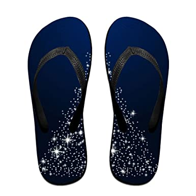 Couple Flip Flops Christmas Tree Print Chic Sandals Slipper Rubber Non-Slip Spa Thong Slippers
