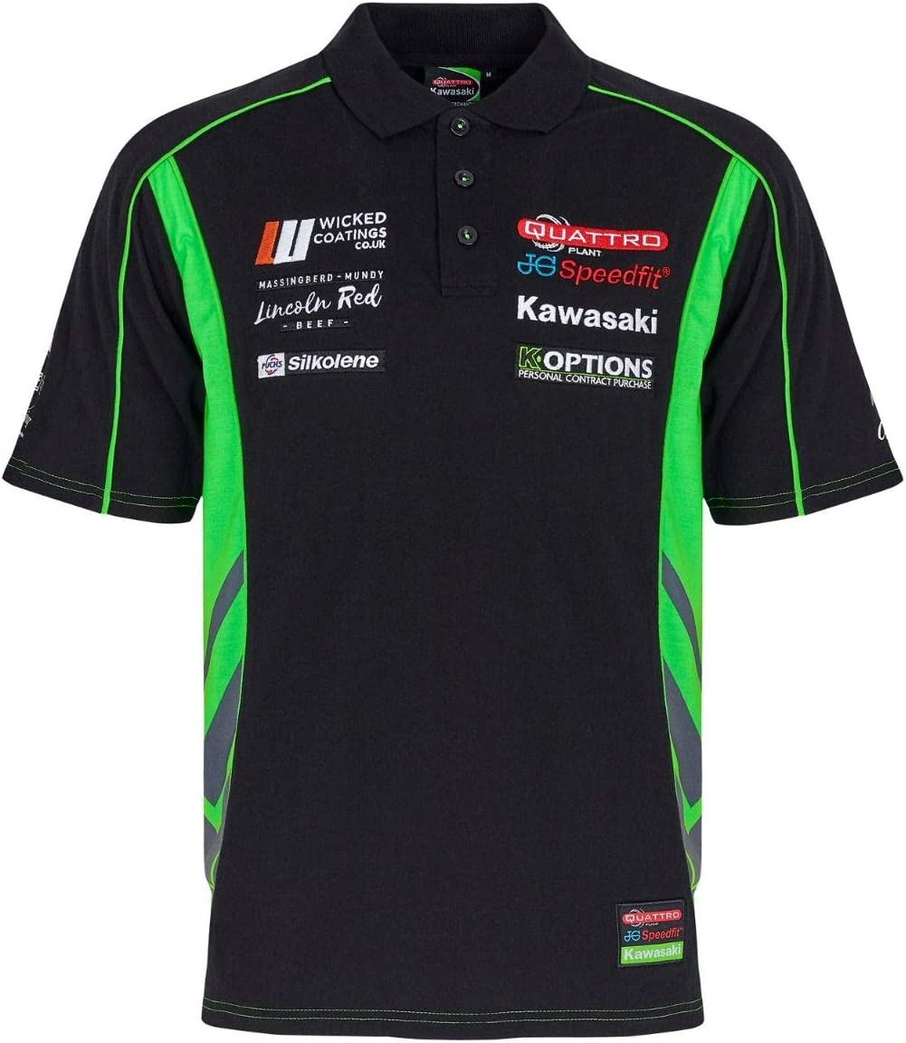 Kawasaki Oficial camiseta polo de paddock pitline equipo de motos hombres (M): Amazon.es: Coche y moto