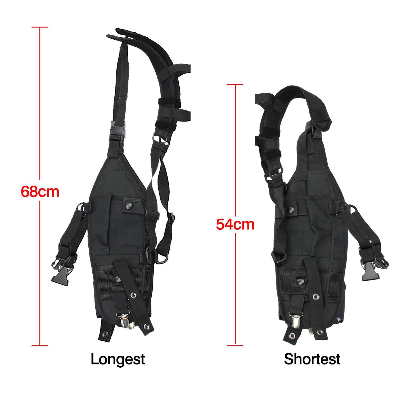 abcGoodefg Universal Hands Free Radio Chest Pocket Harness Holster Holder Vest Rig for Two Way Radio Rescue Essentials
