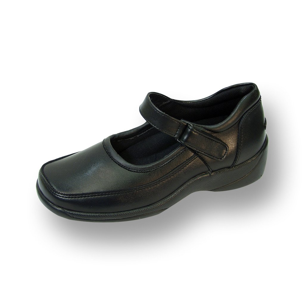24 Hour Comfort  Nicole (2006) Women Extra Wide Width Leather Mary Janes Black 8.5