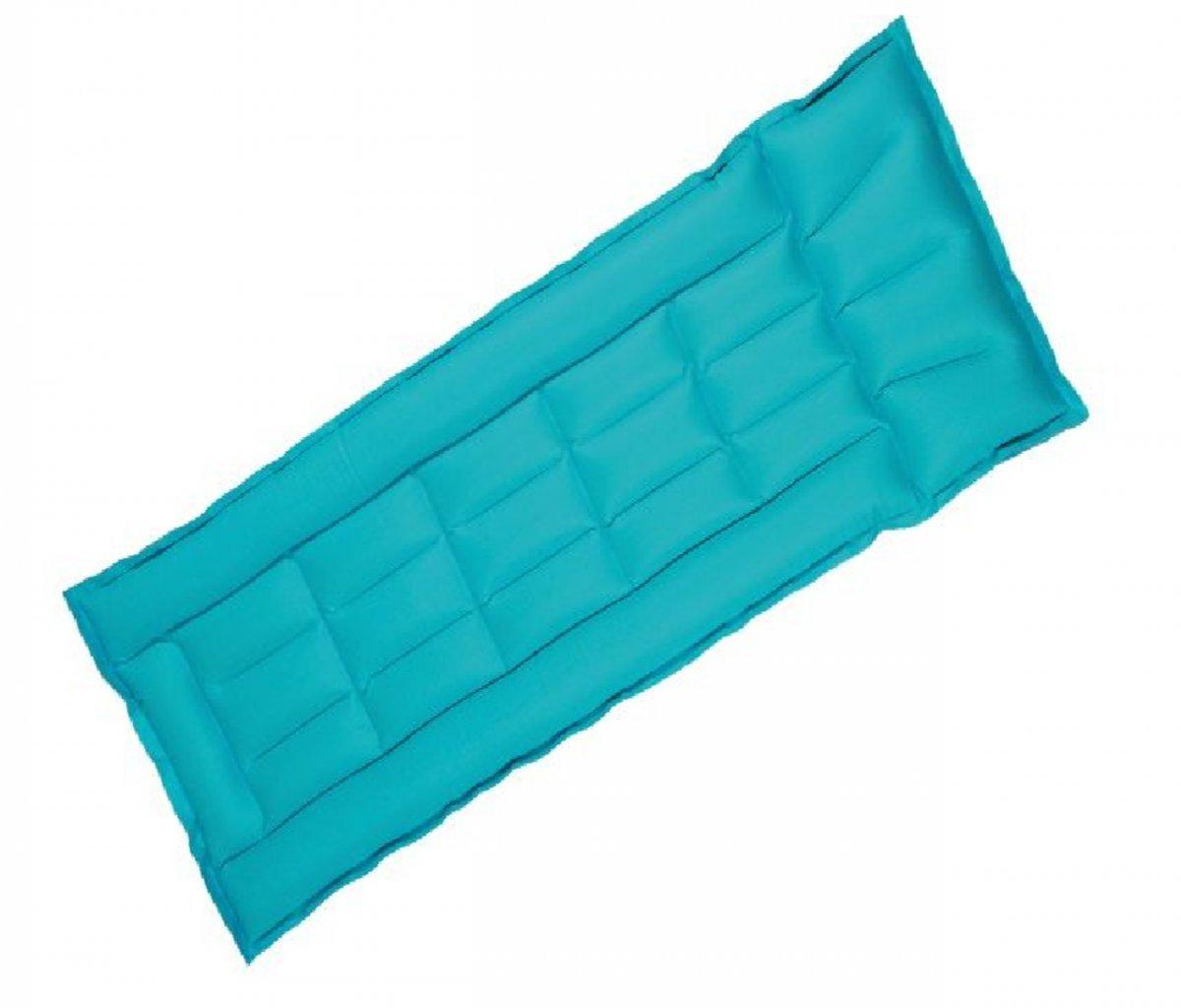 Dreams4Home Gewebeboxmatratze 'Uni' - Matratze, Gewebematraze, Liegematratze, Schwimmmatratze, aufblasbar, Outdoor, Freizeit, Schwimmbad, Meer, Strand, Größe: 198 x 75 x 6,5 cm, in blau / grün