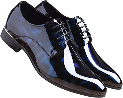 Men Oxford Shoes Pointed Toe Floral