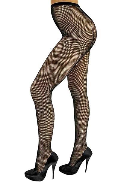 f6a1c696a694f Luxury Divas Black Fishnet Back Seam Hosiery Tights With Rhinestones L01397  Women