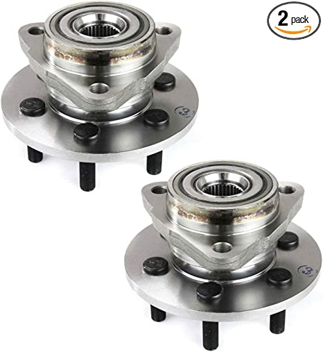 4WD Models,4-Wheel ABS Left Right Front Wheel Hub and Bearing Assembly Compatible With 1997 98 99 00 01 02 03 2004 Dodge Dakota 1998-2003 Dodge Durango Pair 6 Lug W//ABS AUQDD 2PCS 515008 515009