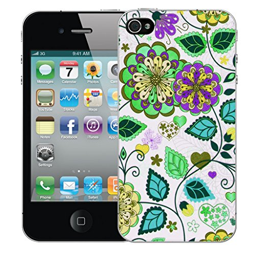 Mobile Case Mate iPhone 4s Silicone Coque couverture case cover Pare-chocs + STYLET - Efflorescence pattern (SILICON)