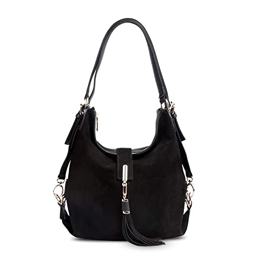 Amazon.com  Women Real Split Suede Leather Shoulder Bag Female Leisure  Nubuck Casual Handbag Hobo Messenger Top-handle bags 4893227e46ca8
