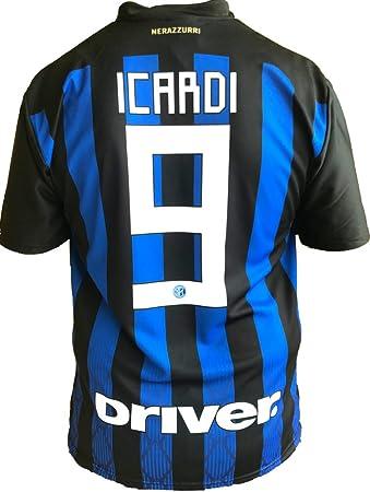 Camiseta Jersey Futbol Inter Mauro Icardi 9 Replica Oficial Autorizado 2018-2019 Niños (2,4,6,8,10,12 año) Adultos (Small, Medium, Large, Xlarge) (Talla 2 Años): Amazon.es: Deportes y aire libre