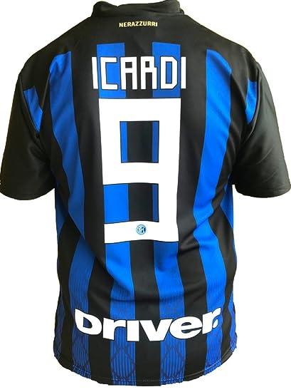 ed4ce7e699db3 Camiseta Jersey Futbol Inter Mauro Icardi 9 Replica Oficial Autorizado 2018-2019  Niños (2