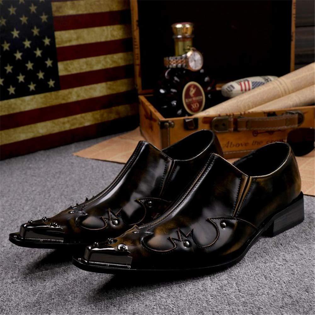 Herren Herren Herren Lederschuhe Halbschuhe Oxford Männer Cowboy Schlüpfen Spitze Metallspitze Hochzeit Abend Geschäft Kleid Schuhe Größe 37-46  6fdbed