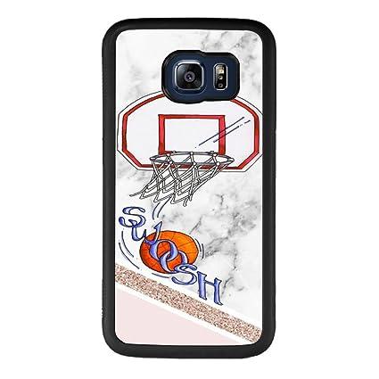 check out d218e e5b38 Amazon.com: Samsung Galaxy S6 edge Case With Basketball Pattern ...