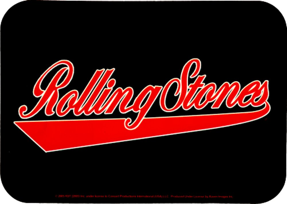 Rolling Stones Athletic Logo in Red on Black Sticker Decal Square Deal Recordings /& Supplies