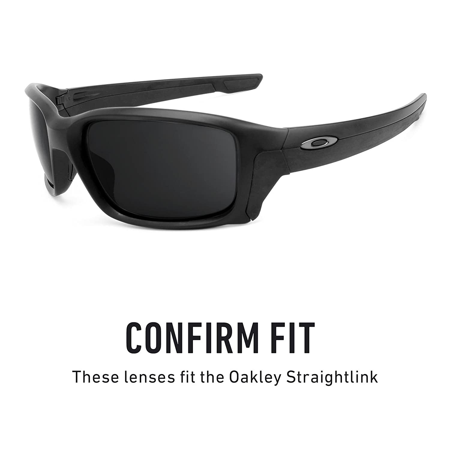 9d2e5215bf9 Amazon.com  Revant Polarized Replacement Lenses for Oakley Straightlink  Elite Black Chrome MirrorShield  Sports   Outdoors