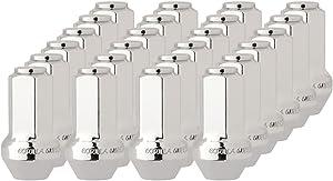 DPAccessories LCB5C9HCOCH06024 24 Chrome Wheel Lug Nuts for most Ford Lincoln Trucks SUVs 4L3Z1012A 7L1Z1012A Wheel Lug Nut
