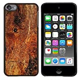 For Apple iPod Touch 6 6th Generation - Wood Texture Material Structure Brown Nature Case Cover Protection Design Ultra Slim Snap on Hard Plastic - God Garden -