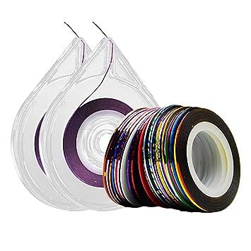 Amazon Nail Tape 30 Colors Narrow Line Striping Tape For Nail