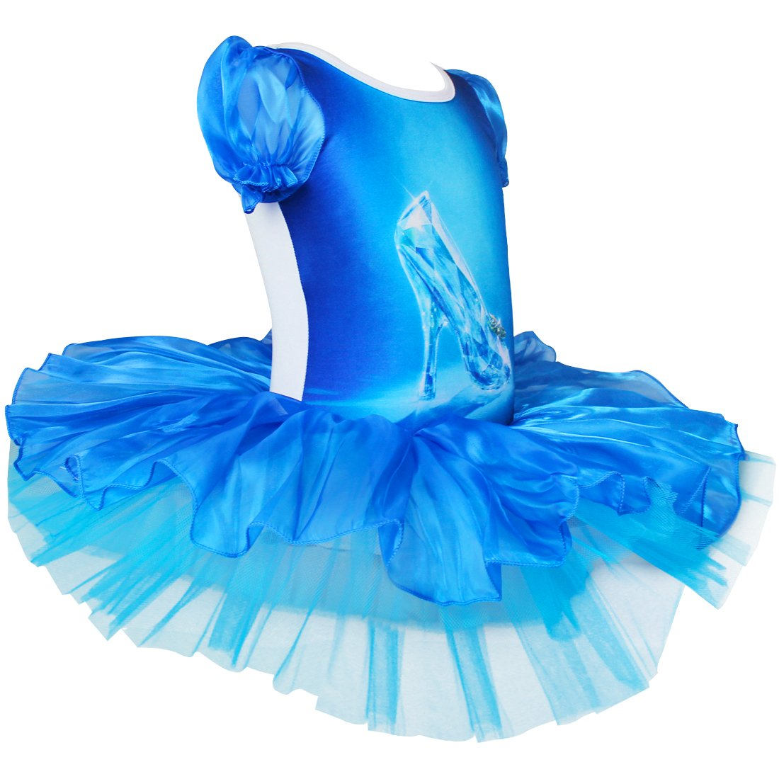 iEFiEL - Disfraz de tutú de ballet zapatos de baile vestido de cristal para niñas disfraces, color azul, tamaño 10 años: Amazon.es: Deportes y aire libre