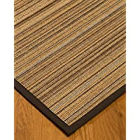 NaturalAreaRugs Boardwalk Sisal Area Rug 4 by 6 Fudge Border