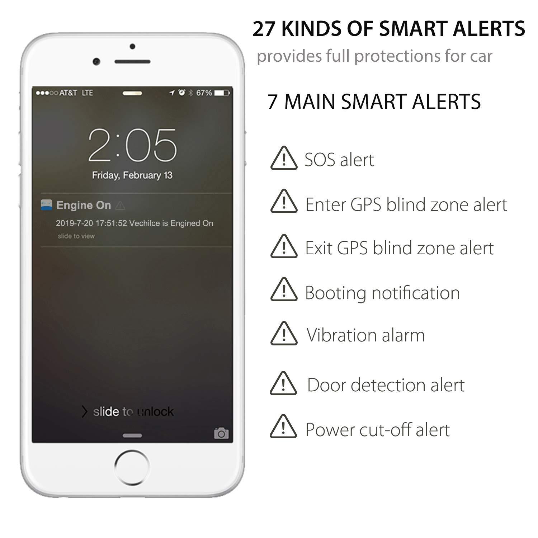 Localizador GPS,JPSTKER Impermeable Tiempo Real Anti-Robo GPS Tracker para Automóviles,Combustible de Corte Remoto, Alertas Múltiples, para Gestión de ...
