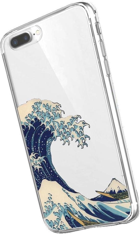 Inonler Olas de Arte Ukiyo-e japonés de Suave Transparente Funda(Funda iPhone SE, Funda iPhone 5S, Funda iPhone 5)