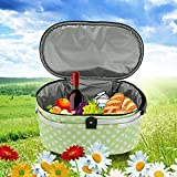 TOMSHOO 30L Foldable Picnic Basket Insulated