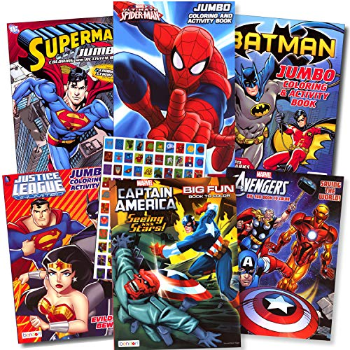 Superheroes Coloring and Activity Book Assortment -