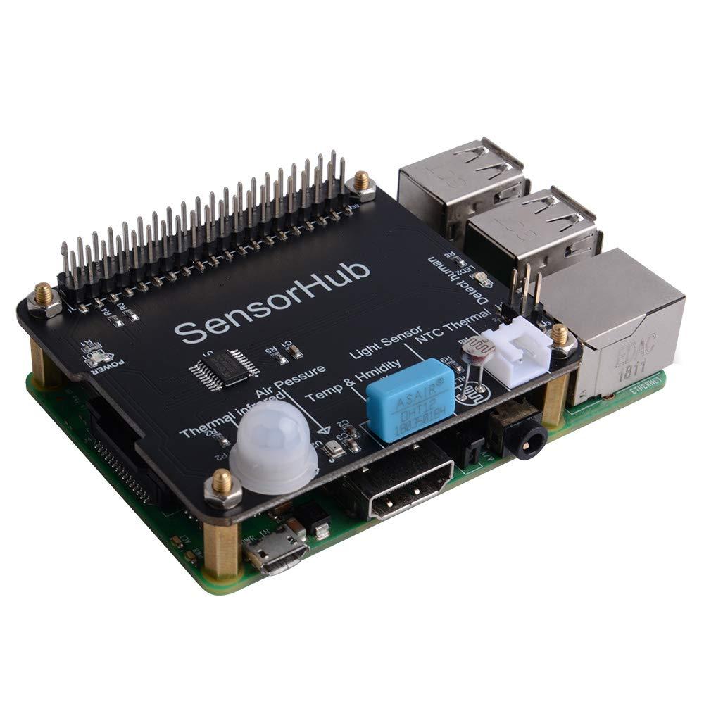 GeeekPi Docker Pi Sensor Hub w//Air Pressure,Temperature,Humidity,Lighting,PIR Sensor for Raspberry Pi//Jetson Nano//Nano Pi//Orange Pi